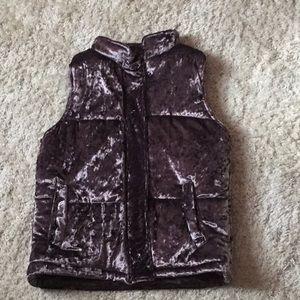 NWT Velvet puffer vest